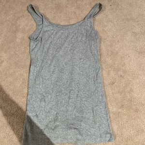 Plain grey fitted tank top